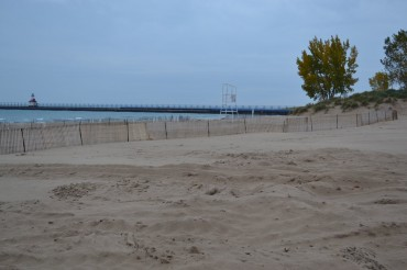 Fall is time to prep the beach with snow fence