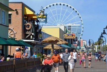 Main boardwalk at Myrtle Beach