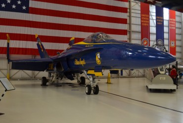 One of the Blue Angel planes