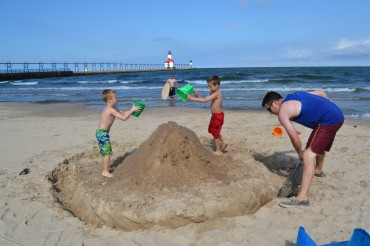 Monster sand castle