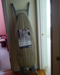 A regular-sized ironing board