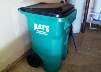 "Our very own trash can from ""Ray's"""