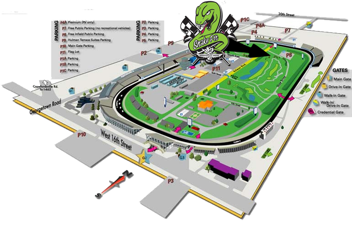 Indy 500 : AM Living The Dream Indy Track Map on